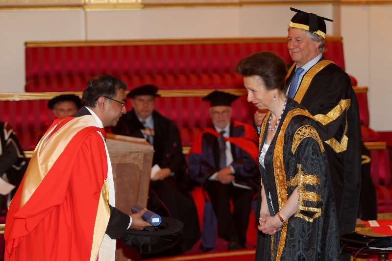 The Ceremony for the Conferment of Honorary Degrees by the University of London, was held at Buckingham Palace, London in the presence of Her Royal Highness The Princess Royal and The Chancellor.