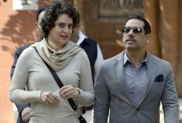 Priyanka Gandhi with husband Robert Vadra (File)