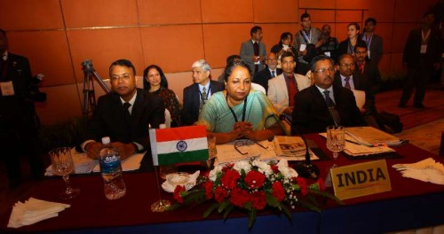 India delegation attends the 41st session of the South Asian Association for Regional Cooperation (SAARC) standing committee ahead of the 18th SAARC summit in Kathmandu, Nepal