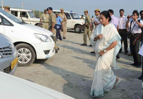 West Bengal Chief Minister Mamata Banerjee visits Sagar Islands in South 24 Parganas of West Bengal. FILE PHOTO