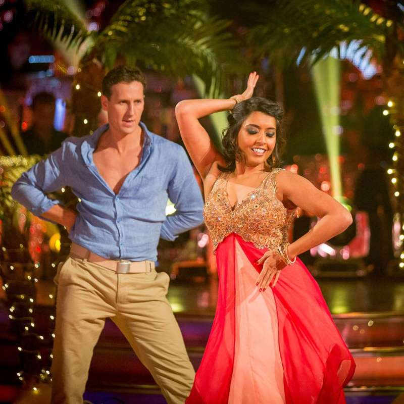 Sunetra Sarkar and her professional partner, Brendan Cole