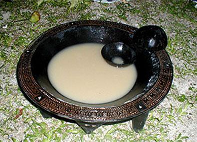 A bowl of yaqona