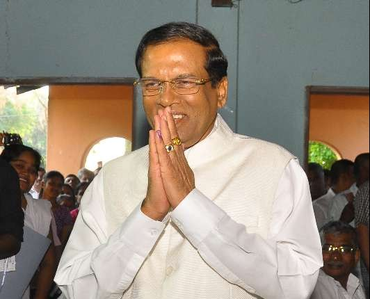 Sri Lanka's president elect Maithripala Sirisena