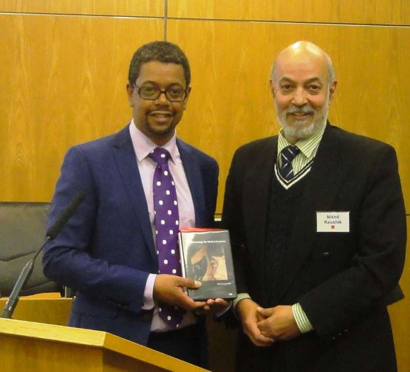 Mr Vaughan Gething, the Welsh Deputy Minister of Health, launches the DVD for medical students