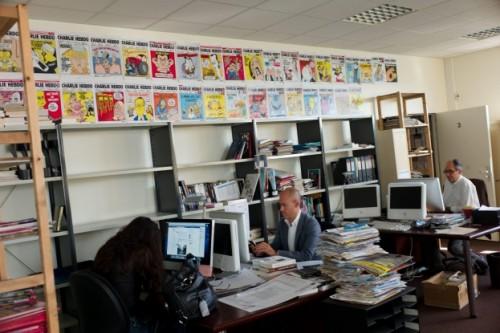 Charlie Hebdo office in Paris