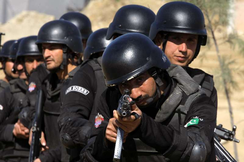 PAKISTAN-NOWSHERA-POLICE-TRAINING