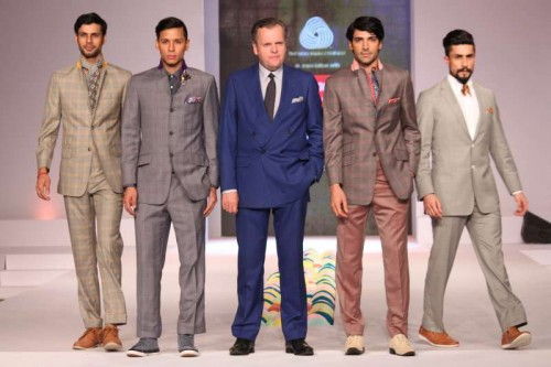 The fashion show by designers Timothy Everest, Rajesh Pratap Singh and Suket Dhir at Australian High Commission in New Delhi recently