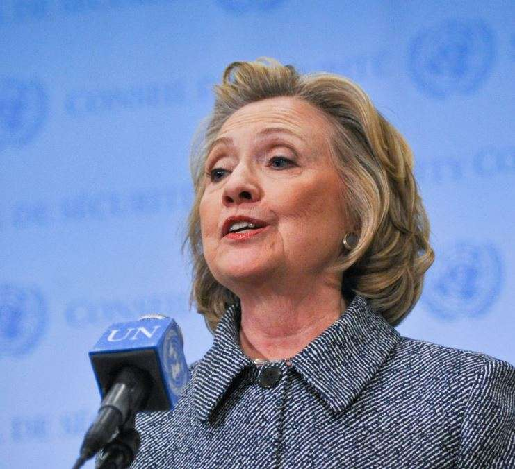 Former US first lady and secretary of state Hillary Clinton