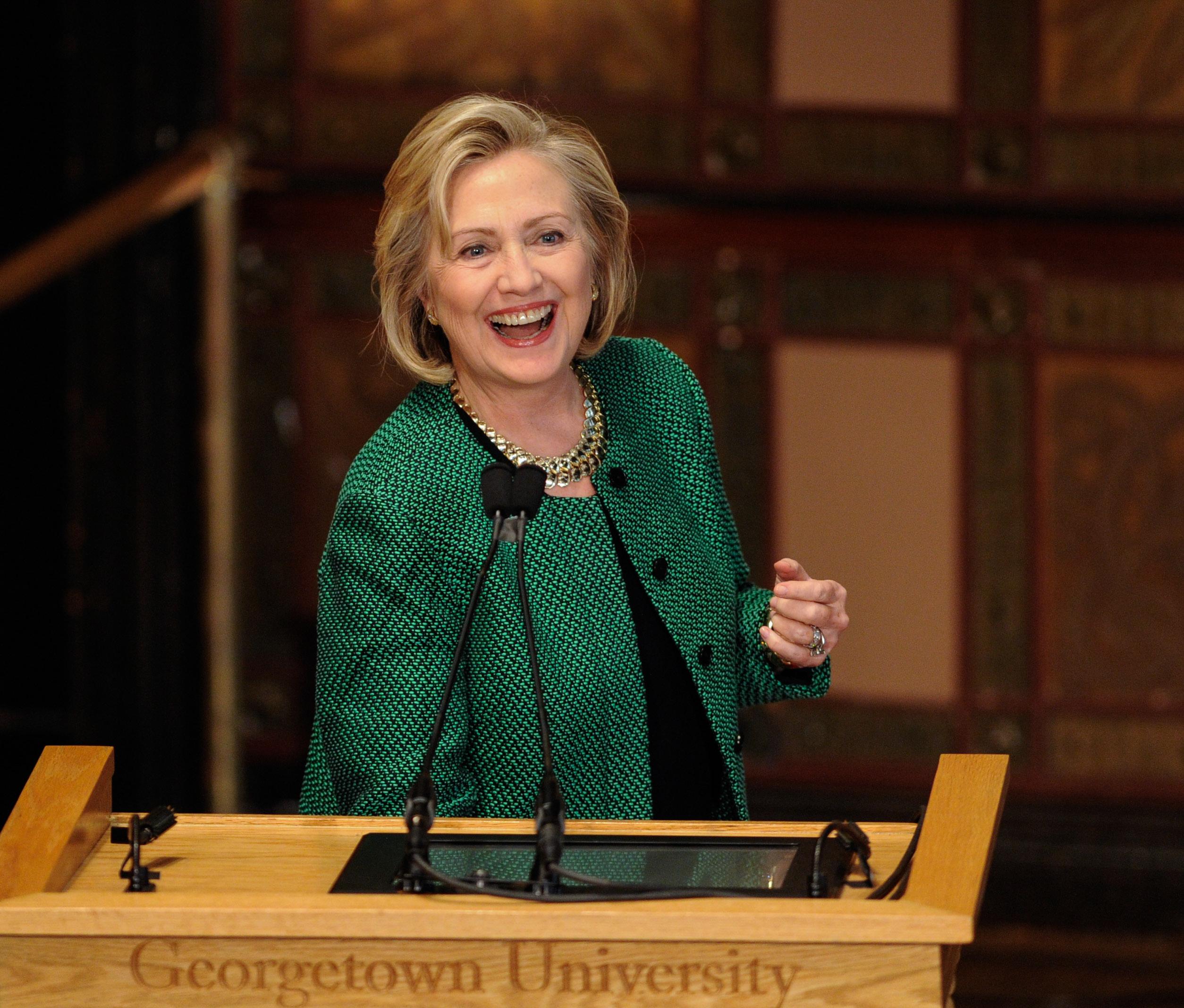 U.S.-NEW YORK-HILLARY CLINTON-PRESIDENTIAL ELECTION-ANNOUNCEMENT