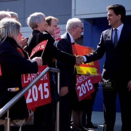 Ed Miliband on campaign trail.