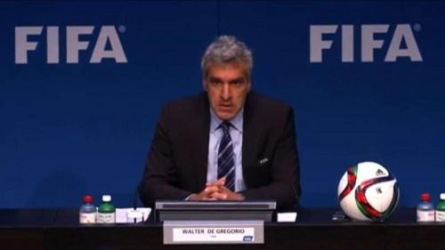 FIFA spokesman Walter De Gregorio addresses a press conference in Zurich, Switzerland on May 27, 2015