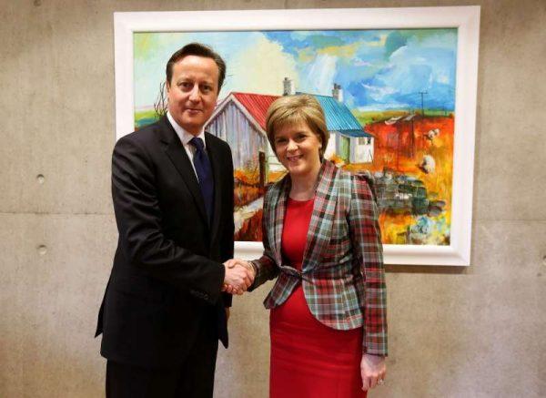Prime Minister David Cameron with Scottish First Minister Nicola Sturgeon - File