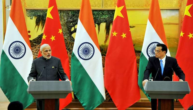 Prime Minister Narendra Modi during a Joint Press Statement with the Chinese Premier Li Keqiang, at Great Hall of People, in Beijing, China on May 15, 2015.