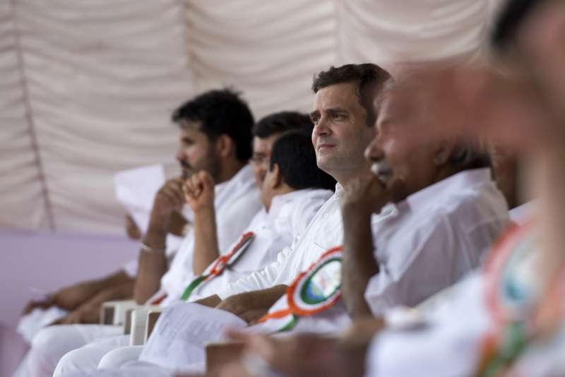 Congress Vice President Rahul Gandhi at  the party meet in Kozhikode