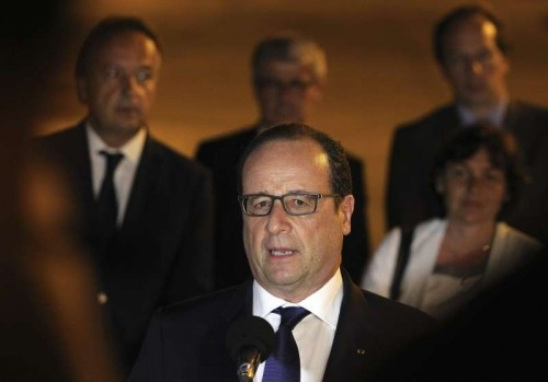 French President, Francois Hollande, offers a press conference as he arrives at the Jose Marti Airport in Havana, Cuba, 10 May 2015. Hollande arrives in Havana for an official visit to Cuba, the first by a French head of state on the island, which coincides with an approach process between Havana and Washington.