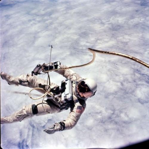Ed White on spacewalk