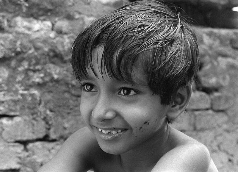 "Subir Banerjee as Apu in ""Pather Panchali"""