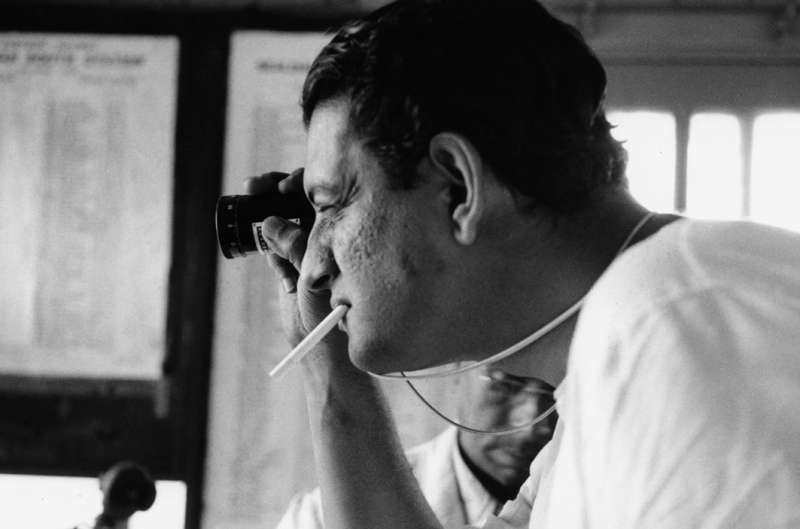 "Satyajit Ray working on ""The Apu Trilogy"" ("