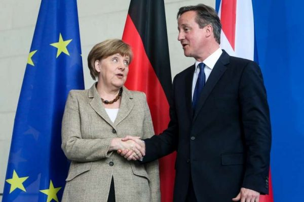 German Chancellor Angela Merkel and British Prime Minister David Cameron  (File)