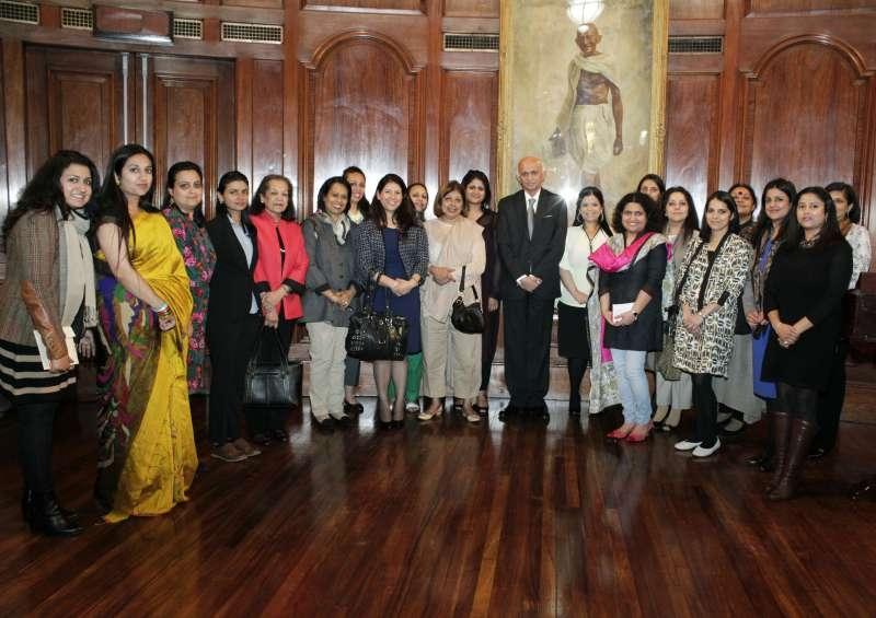 Indian High Commissioner Mr. Ranjan Mathai with ELSA UK – an alumni group of the prestigious Lady Shri Ram College for Women in New Delhi.