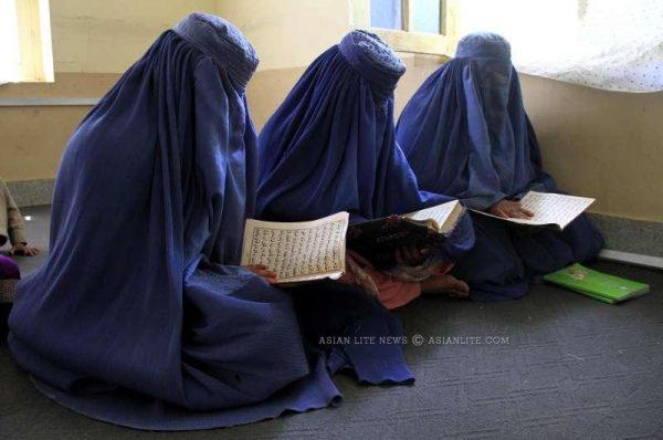 HOLY RAMADAN: Afghan women read holy book Quran during the holy month of Ramadan in Nangarhar province, eastern Afghanistan