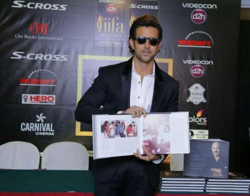 Actor Hrithik Roshan unveils his sister Sunaina Roshan`s book `To Dad with Love` at the 16th edition of International Indian Film Academy (IIFA) Weekend and Awards in Kuala Lumpur, Malaysia on June 6, 2015.