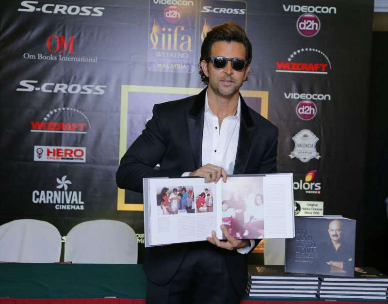 Actor Hrithik Roshan unveils his sister Sunaina Roshan`s book `To Dad with Love`