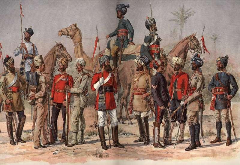 Sepoys from Madras Regiment
