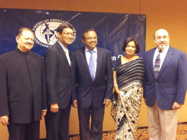AAPI Executive Officers: Dr. Ajay Lodha, Dr Jayesh Shah, Dr. Narendra Kumar, Dr. Seema Jain, and Dr. Ravi Jahagirdar