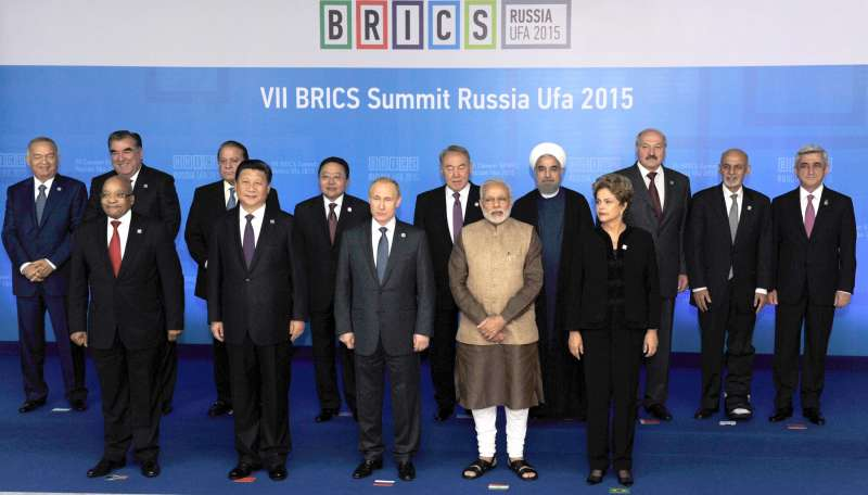 World leaders assemble at Ufa, Russia, to discuss trade and peace