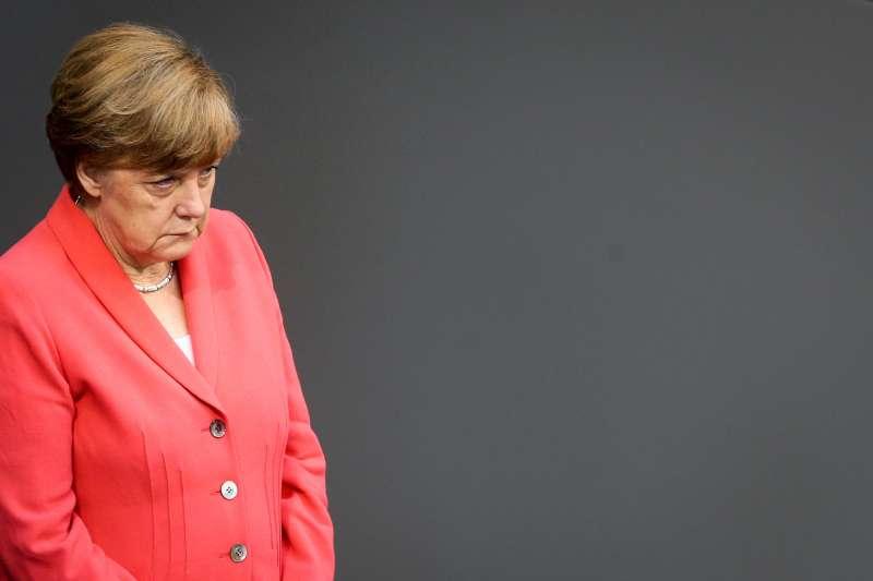 German Chancellor Angela Merkel attending the debate on Greece bailout