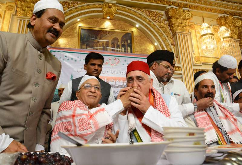 Congres leader and former foreign minister Salman Khursid at an Iftar party