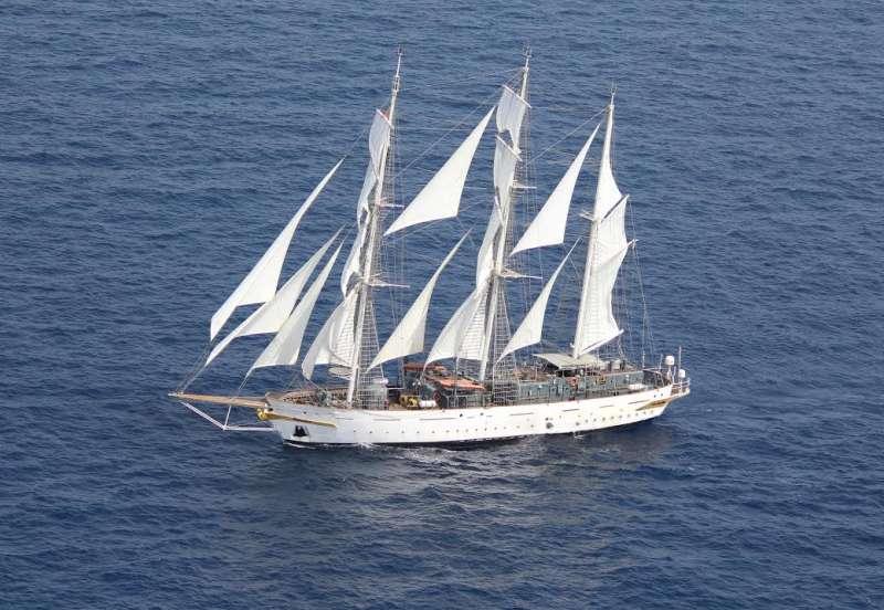 INS Tarangini arrives at Plymouth