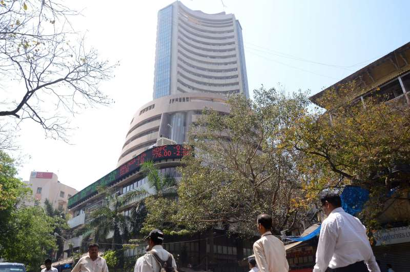 A benchmark index of Indian equities markets, of the S&P Bombay Stock Exchange (BSE) Monday touched a record high of 28,010 points in the intra-trade session Wednesday (Nov 5, 2014), surpassing the previous high of 27,969.82 points hit hit on Monday. (File Photo)