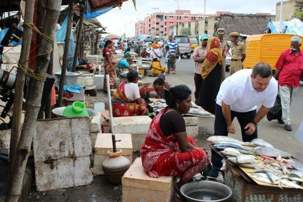 Gary Mehigan explores an Indian fish market