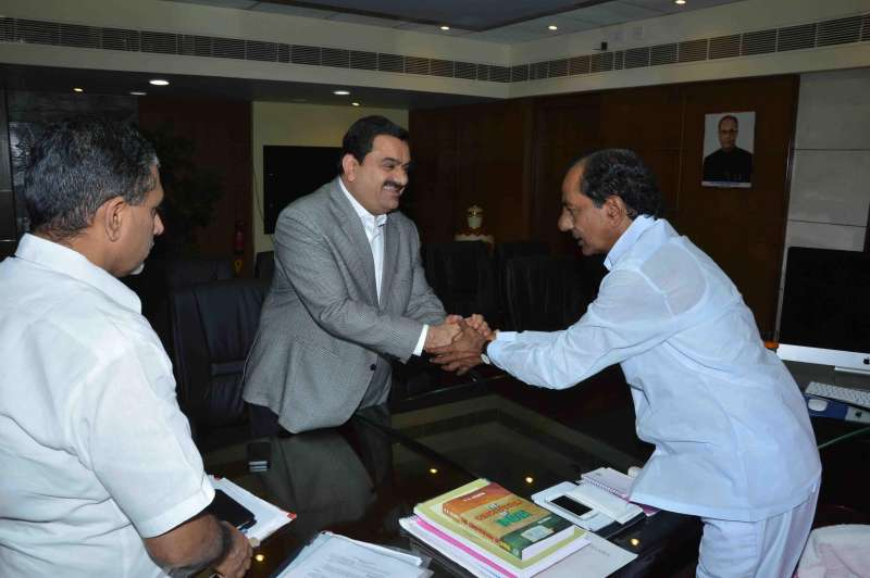 Chairman and Founder of the Adani Group, Gautam Adani calls on Telangana Chief Minister K Chandrasekhar Rao in Hyderabad  (File)