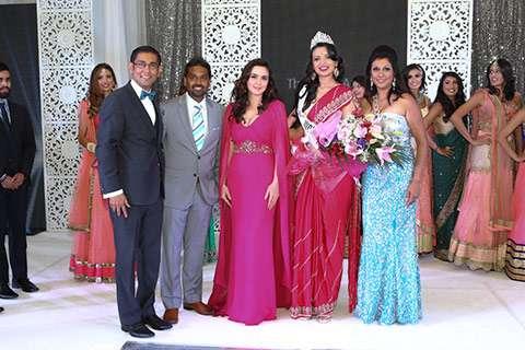 (L-R) Organizer Sanjay Agnihotri, Francis D'Souza, Bollywood actress Priety Zinta, Manasvi Noel and Karen Johnson at Miss India-Canada 2015