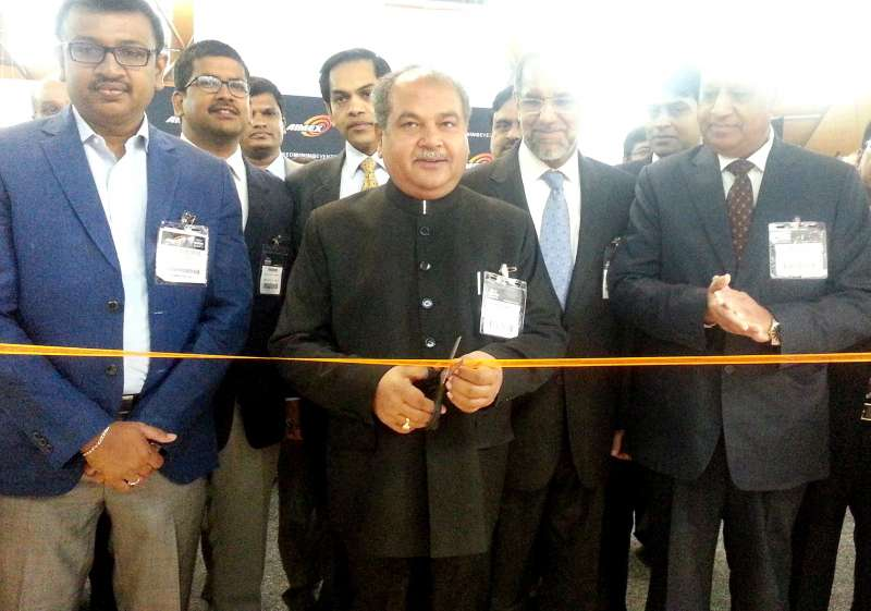 The Union Minister for Mines and Steel, Narendra Singh Tomar inaugurates the Indian pavilion at AIMEX-2015, in Sydney, Australia