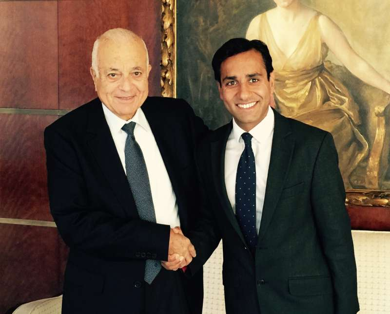 Rehman Chishti MP with  Arab League Secretary-General Nabil Elaraby