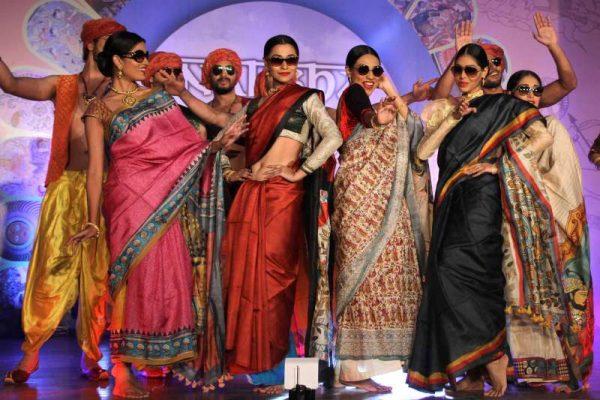Models showcase fashion designer Santanu Guha Thakurta's creations in Kolkata