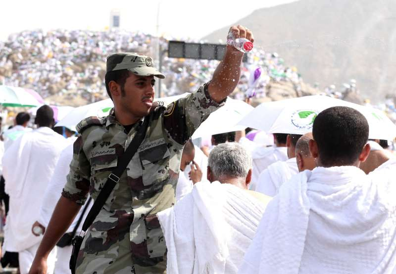 A Saudi soldier during the Hajj pilgrimage...Pics by COT Azeez