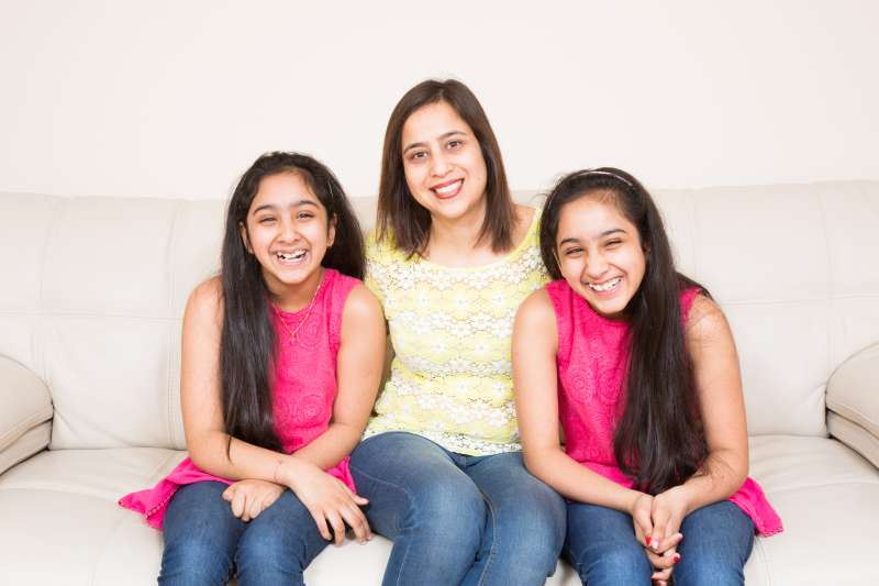 Vanika & Vanishka with mom Ruchika