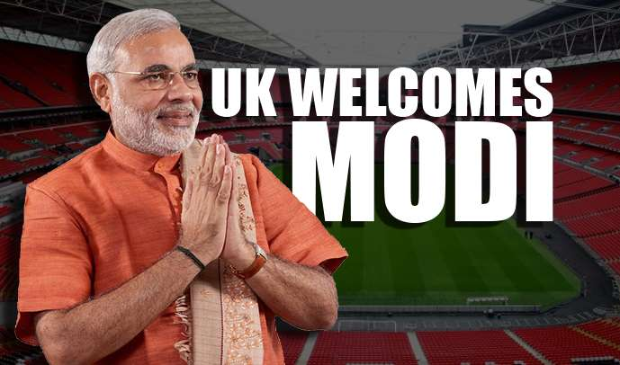 UK Welcomes Modi Wembley