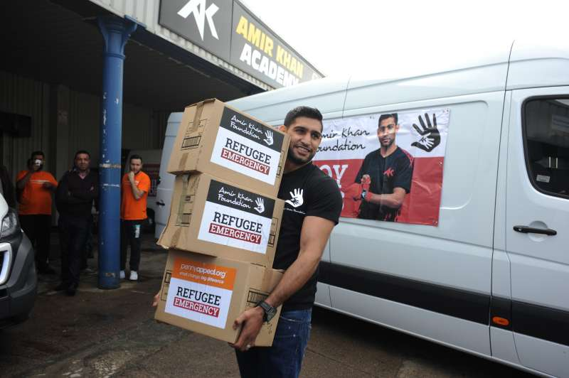 Amir Khan, founder of Amir Khan Foundation, teamed his Foundation up with international aid charity Penny Appeal to bring much needed aid to refugees
