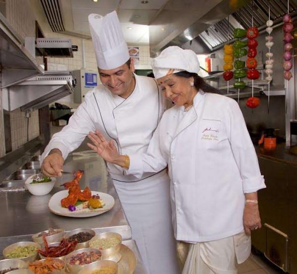 Asha Bhosle with her corporate chef Ashwani Rangta
