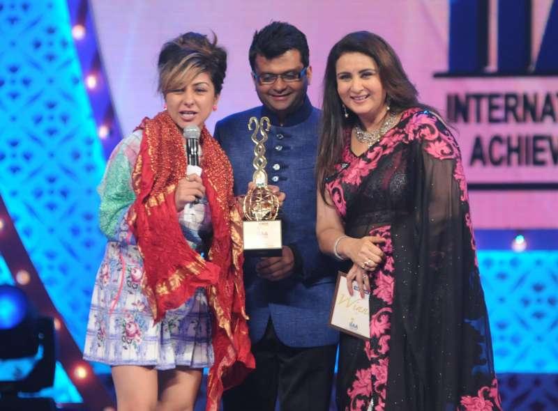 British-Asian singer Hard Kaur at an award function in Mumbai