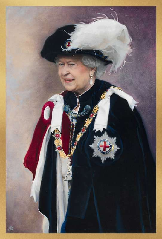 Portrait of Queen Elizabeth II by Alastair Barford, Image credit © Illustrated London News Ltd, www.recordreign.com