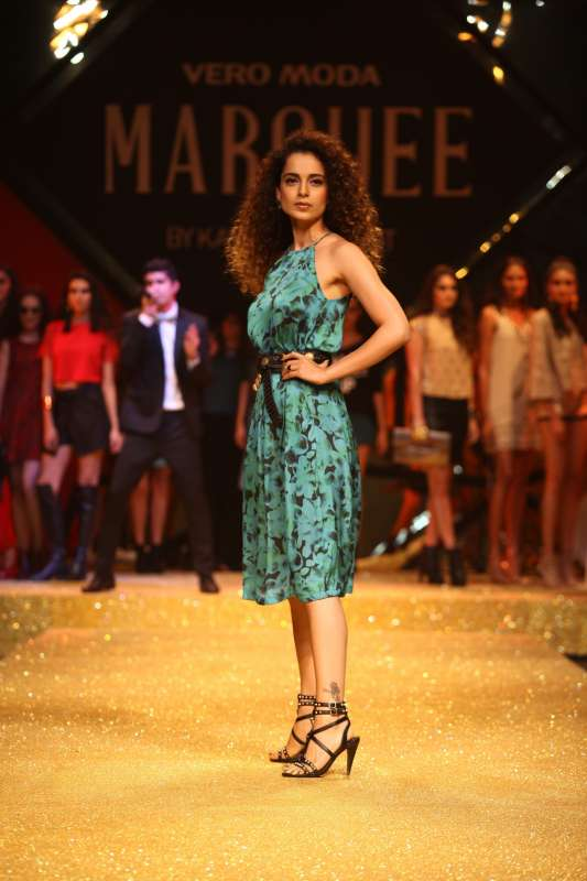 Actress turned designer Kangana Ranaut turns showstopper at the VERO MODA MARQUEE collection launch event