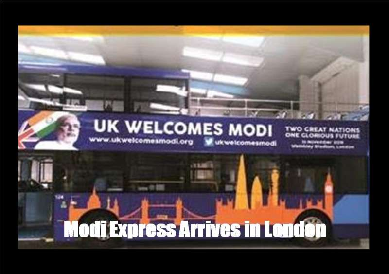 Modi Express Arrives in Wembley