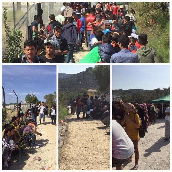 Sheer volume of people passing through Moria camp in Lesvos is staggering